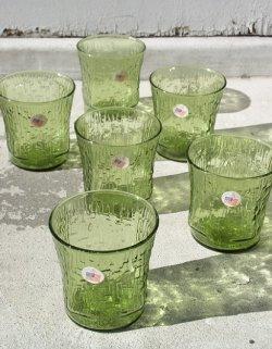 画像1: アンカーホッキング社 パゴダ アボカドグリーン ショートグラス6pcセット