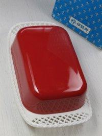 伊勢丹 SHINKO JYUSHI  プラスチック製バターケース color:レッド/ホワイト size:L21×W11.8×H6(cm)
