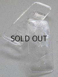 透明プラスチック容器 プレス模様/仕切り/蓋付 size: L20.5×W8.5× H4.8