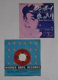"EP/7""/Vinyl  ワン・ボーイ   恋の六月  ジョニー・ソマーズ  with Con Ralke And His Orchestra  (1962)  WARNER BROS."