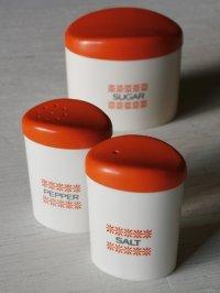 セキスイ  調味料シェイカー&ポット3PCセット  Salt,Pepper& Sugar