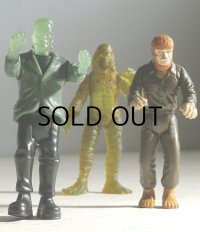 BURGERKING KIDS CLUB 1997 Universal Studios Monsters Action Figure   CREATURE FROM THE BLACK LAGOON /WOLFMAN /FRANKENSTEIN  バーガーキング ミールトイ 半魚人/狼男/フランケンシュタイン 3pcセット