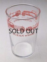 OCEAN Whisky ノベルティグラス クラッシックカー 赤 size:φ6×H9.5(cm) HOYA GLASS