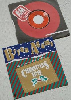"""画像1: EP/7""""/Vinyl  クリスマス・タイム  レゲエ・クリスマス   ブライアン・アダムス  (1985)  A&M RECORDS"""