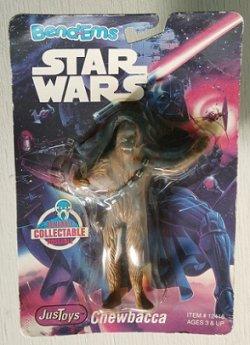 """画像1: Star Wars Bend-Ems Action Figure """"Chewbacca"""" Just Toys Inc 1993 スターウォーズフィギュア チューバッカ"""