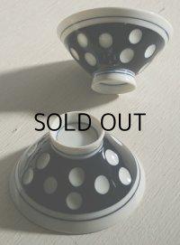 ドット/水玉 ごはん茶碗 セラミック size: topØ11.5×H5.7×underØ4.5(cm) 各1枚