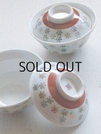 蓋付ごはん茶碗/丼茶碗 2pcセット  スノーフレーク柄  size: Ø15.2×H10(cm)