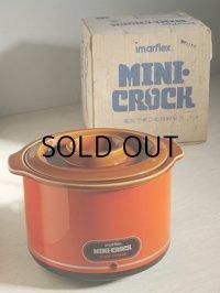 imarflex/今西金属 ミニクロック 電気で煮込む陶器なべ MODEL 3201 赤、ブラウン (パイロットランプ付) size: 1 L