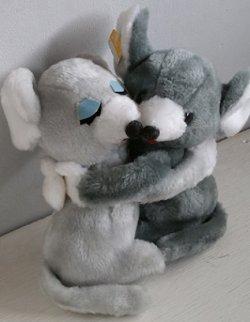 画像1: ネズミ/マウス  ペアーぬいぐるみ