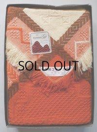 OTSU KOGYO CO., LTD. オーケー 高級こたつ上掛 アクリル100%  color: オレンジ、クリーム、ブラウン size:180×180(cm)