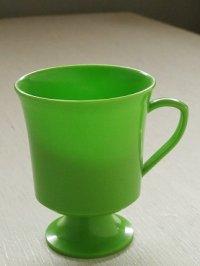 U.S.A. プラスチック 足つきマグカップ color: グリーン size: topØ8.2×H10×underØ5.7(cm)