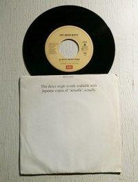 """EP/7""""/Vinyl/Single """" ALWAYS ON MY MIND オールウエイズ・オン・マイ・マインド(ハイ・エナジー・ヴァージョン)/ HEAR(dub) ハート(ダブ・ミックス・ヴァージョン)""""  (1987) Pet Shop Boys ペット・ショップ・ボーイズ 非売品 EMI"""