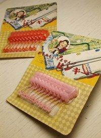 東京 ヤマト産業(株)  ピンキープ  フラワー安全ピン10本セット  color: ピンク/レッド  各1パック