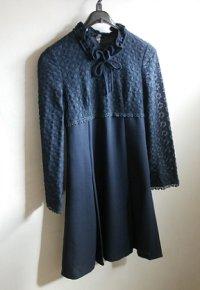 ISETAN CO.  ワンピース 1972年製 color : 紺 (リボン、レース)