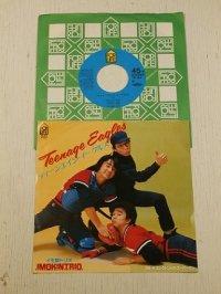 """EP/7""""/Vinyl   ティ―ンエイジ・イーグルス  エレクトリック・スーパーマン  イモ欽トリオ  (1983)  FOR LIFE"""