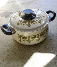 サンゴーホーローウェア 両手鍋 東欧風柄 size: Ø20cm