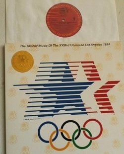 "画像1: LP/12""/Vinyl  The GUBER PETERS Comupany Presents  ""The Official Music Of The XXXXIIIrd Olympiad Los Angeles 1984 ""  GIORGIO MORODER, BOB JAMES, CHRISTOPHER CROSS, TOTO, JOHN WILLIAMS, QUINCY JONES, BILL CONTI, FOREIGNER, HERBIE HANCOCK etc  (1984)  COLUMBIA"