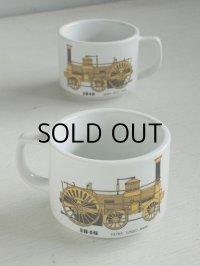 "Rosery CHINA - HEIWA SOGO BANK マグカップ ""1846 クランプトン型蒸気機関車"" イエロー size: Ø8.5×H6.6(cm)  各1個"