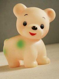 ソフビ人形/スクイージートイ 子ぐま color: ライトピンク/グリーン size: L9-W5-H9(cm)