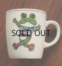 ケロヨン 陶磁器製マグカップ size: Ø7.5×H8.4 (cm)