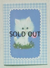 gibson April Cards  グリーティングカード  (封筒付) ネコ/ねこ/猫/チンチラ  CBS/SONY  FAMILY CLUB