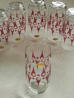 画像1: OTG GLASS  幾何学模様プリント  ロンググラス  size: Ø5.8×H12(cm)  各1個