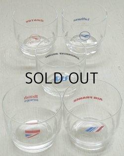 画像1: HOYA AIRLINE TUMBLERS COLLECTION エアラインタンブラー/グラス5pcセット(エールフランス航空、ブリティッシュ・エアウェイズ、キャセイパシフィック航空、スカンジナビア航空、カンタス航空、ルフトハンザ航空)