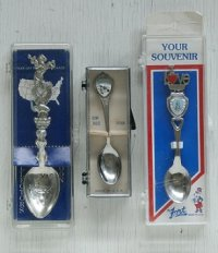 souvenir spoon/ collecters spoon  スーヴェニアスプーン/ コレクターズスプーン  A. TEXAS  B. HAWAII  C. PITTSBURGH, PENNSYLVANIA  各1個