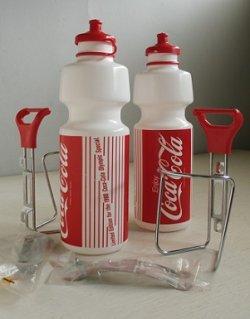 画像1: Limited Edition  for the 1988 Coca-Cola Olympic Special  コカ・コーラ  1988オリンピック  バイク(自転車)用ボトルゲージ付 プラスチックボトル  各1セット