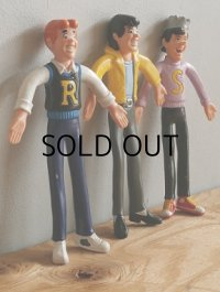 """Archie/The Archies   8"""" BENDABLE FIGURES by Jesco, Inc  アーチーズ ベンダブルフィギュア3PC セット"""