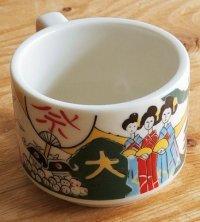 "Fancy CHINA  セラミックマグ  ""祇園祭""  size: Ø8.7/W2.8/h6.5 (cm)"