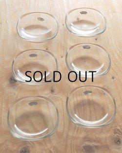 画像1: KAGAMI CRYSTAL クリアースクェアーガラス小皿/小鉢/ボウル6個セット