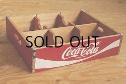画像1: Enjoy Coca-Cola 木製ケース 6スペース/仕切り size: L31.5×W25.6×H7.4(cm)