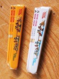 テイネン  MICKEY MOUSE・DONALD DUCK  子供用お箸&箸箱セット  ©Walt Disney Productions   各1セット