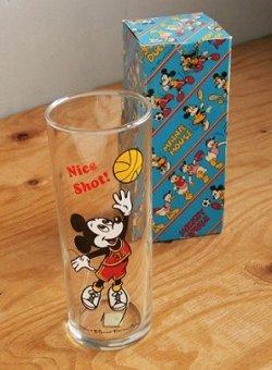 """画像1: MICKEY MOUSE ミッキーマウス   """"Nice Shot!""""  ロンググラス/ゾンビグラス   size:Ø6×L15.5(cm)  容量:10 1/2オンス(約310.5ml)"""
