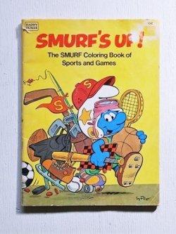"""画像1: Happy House Books """"SMURF'S UP!"""" The SMURF Coloring Book of Sports and Games スマーフ 塗り絵"""