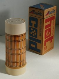 "Aladdin's Best Buy vacuum bottle WM4060 QUART WIDE MOUTH ""BROWN PLAID"" アラジン ワイドマウス/スープジャー ブラウンプレイド(格子じま) 容量: 約946ml"