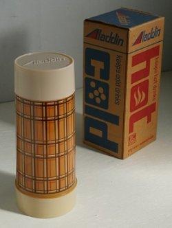 """画像1: Aladdin's Best Buy vacuum bottle WM4060 QUART WIDE MOUTH """"BROWN PLAID"""" アラジン ワイドマウス/スープジャー ブラウンプレイド(格子じま) 容量: 約946ml"""