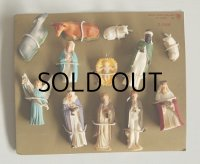 ART PLASTICS Hand Painted plastic mini Christmas Nativity figurines 12 piece set クリスマス プラスチックフィギュア キリスト生誕 12pcセット
