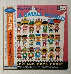 """画像1: LP/12""""/Vinyl   WALT DISNEY presents  """" 小さな世界  イッツ・ア・スモール・ワールド IT'S A SMALL WORLD FAVORITE FORK SONGS """"  DISNEY BOYS CHOIR ポール・サラムノビッチ指揮 ディズニーランド少年合唱団  デザイン:メアリー・ブレア  (1981)  Disneyland RECORD"""