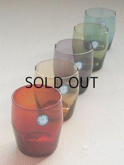 画像1: SASAKI GLASS カラーグラス/タンブラー 5pc set (レッド/ブラウン/パープル/オリーブ/ブルー)