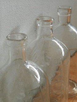画像1: 薬瓶 クリアー硝子  size: topØ1.8cm×L12.5cm×underØ5.4cm