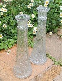 "Anchor Hocking Bud Vases Stars and Bars アンカーホッキング 一輪挿 ""スター&バー"""