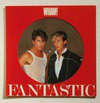 "LP/12""/Vinyl  ピクチャーレコード  FANTASTIC ファンタスティック  WHAM! ワム! (1983)  Epic  帯なし/歌詞カード&ライナー付"