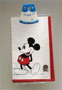 MICKEY MOUSE ミッキーマウス  ハンカチーフ・ハンカチ   Walt Disney Productions/三恵(株)