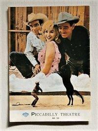 """映画パンフレット 復刻版   ジョン・ヒューズ作品   """"the Misfits 荒馬と女 """"(1984)    クラーク・ゲーブル マリリン・モンロー モンゴメリー・クリフト"""