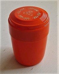 伊勢丹 プラスチック製茶ずつ/キャニスター 花柄ゴールドプリント color: オレンジ