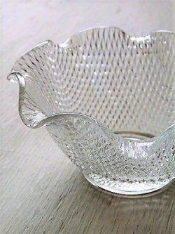 画像1: プレスガラス小鉢 クリアー