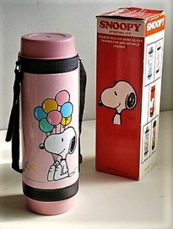 画像1: SMOOPY   SPORTING JUG 0.75L   スヌーピー ピンク   魔法瓶 水筒