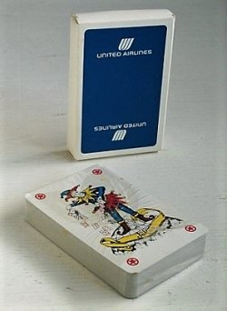 画像1: Playing Cards トランプ  UNITED AIRLINES ユナイテッド航空  Blue Box  MADE IN HONG KONG